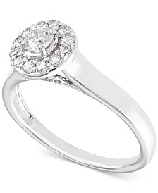 X3 Certified Diamond Engagement Ring (1/2 ct. t.w.) in 14k White Gold, Created for Macy's