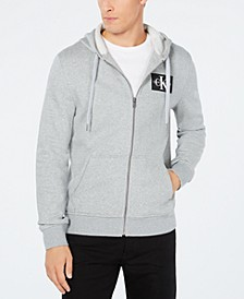 Men's Zip-Front Monogram Hoodie,Created for Macy's