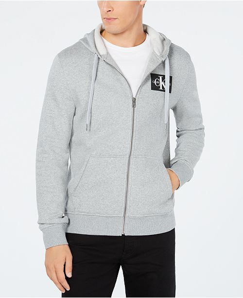 b87edb54b Men's Zip-Front Monogram Hoodie,Created for Macy's