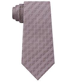 DKNY Men's Grid Slim Silk Tie