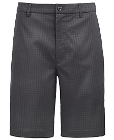 "Attack Life by Greg Norman Men's Tonal Plaid 9.75"" Shorts, Created for Macy's"