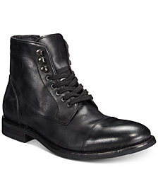 Frye Men's Ben Cap-Toe Leather Lace-Up Boots, Created for Macy's