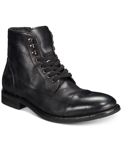 7a39d1b24ea Men's Ben Cap-Toe Leather Lace-Up Boots, Created for Macy's