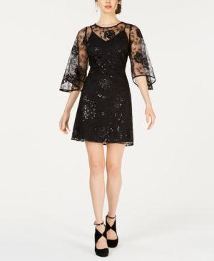 Nanette by Nanette Lepore Tulip-Sleeve Sequin Dress 6989999