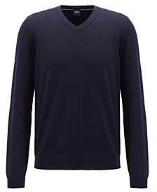 BOSS Men's V-Neck Virgin Wool Sweater