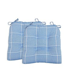 Highland Set of Two Chair Pad Seat Cushions