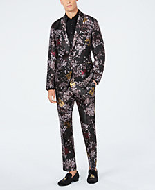 I.N.C. Slim-Fit Metallic Floral Blazer & Pants, Created for Macy's