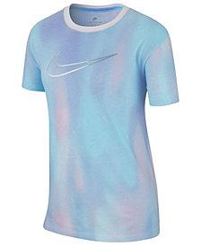 Nike Big Girls Logo-Print Cotton T-Shirt