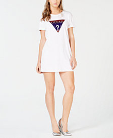 GUESS Cotton Logo T-Shirt Dress