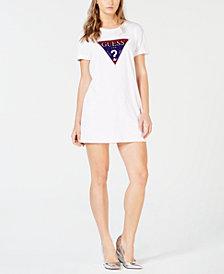 GUESS Cotton Logo T-Shirt Dress