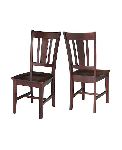 International Concepts San Remo Splatback Chair, Set Of 2