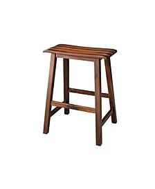 "Slat Seat Stool - 24"" Seat Height"