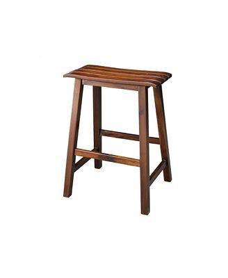 International Concepts Slat Seat Stool 24 Seat Height Furniture