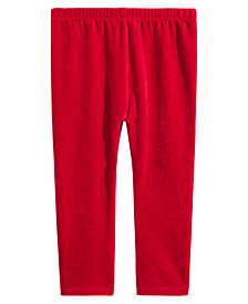 First Impressions Toddler Girls Velour Leggings, Created for Macy's