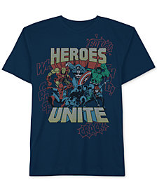 Marvel Little Boys Heroes Unite Graphic Cotton T-Shirt