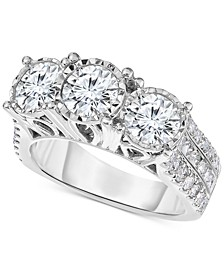 Diamond Three-Stone Engagement Ring (3 ct. t.w.) in 14k White Gold