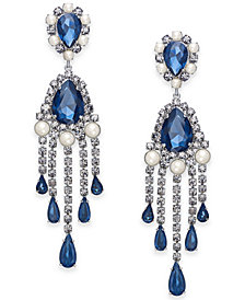 kate spade new york Crystal, Stone & Imitation Pearl Fringe Statement Earrings