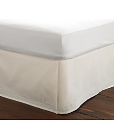 Twin Solid Tailored White Bedskirt