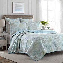 Laura Ashley King Saltwater Blue Quilt Set