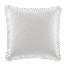 Laura Ashley Solid White Square Pillow