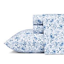 Laura Ashley Queen Loreli Blue Sheet Set