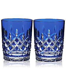 Waterford Barware, Lismore Prestige Cobalt Double Old Fashioned, Set of 2
