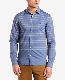 Lacoste Men's Striped Cotton Poplin Shirt