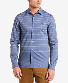 Lacoste Men's Striped Cotton Poplin Shirt
