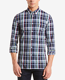Lacoste Men's Slim-Fit Plaid Poplin Shirt
