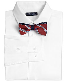 Tommy Hilfiger Big Boys Stretch Solid Shirt & Bowtie
