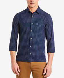Lacoste Men's Slim Fit Ikat Print Shirt