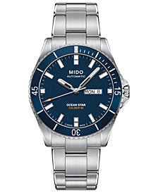 Mido Men's Swiss Automatic Ocean Star Captain V Stainless Steel Bracelet Watch 42.5mm