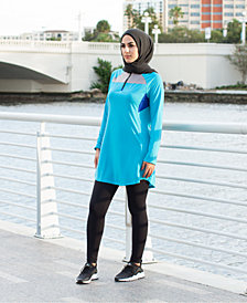 Verona Collection Quarter-Zip Colorblocked Active Top