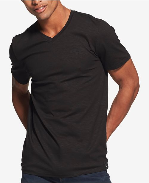 22223205eb20 DKNY Men's Mercerized V-Neck T-Shirt, Created for Macy's & Reviews ...