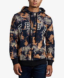 True Religion Men's Tie Dye Brand Graphic Hoodie
