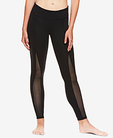 Gaiam X Jessica Biel Madison Mesh-Detail High-Rise Ankle Leggings