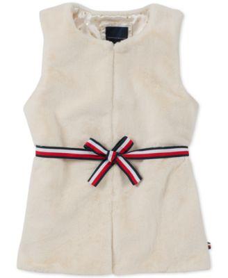 Tommy Hilfiger Girls Fur Vest