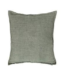 Lemmy Linen Feather Cushion Gray 20X20