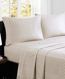 Madison Park Fretwork 4-PC California King Cotton Sheet Set