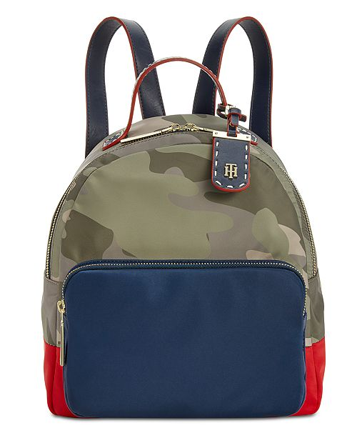 efd63a6456 Tommy Hilfiger Julia Dome Camo Colorblock Backpack   Reviews ...