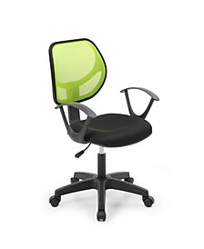 Mesh, Mid-Back, Adjustable Height, Swiveling Task Chair with Padded Seat