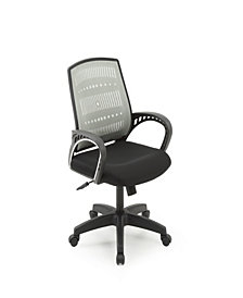 Mesh, Mid-Back, Adjustable Height, Swiveling Office Chair with Padded Seat