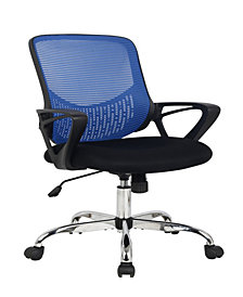 Swiveling Office Chair with Padded Seat in Black
