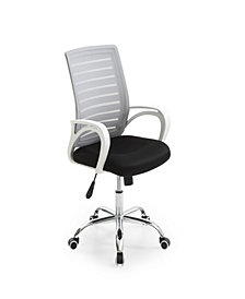 Mesh, Mid-Back, Adjustable Height, Swiveling Office Chair with Padded Seat and Chrome base in Grey