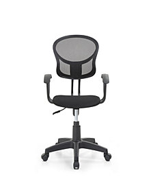 Mesh, Mid-Back, Adjustable Height, Swiveling Task Chair with Padded Seat in Black