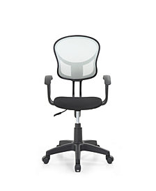 Mesh, Mid-Back, Adjustable Height, Swiveling Task Chair with Padded Seat in Grey