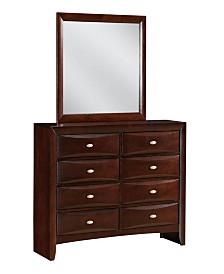 Emily Mirror Only in Merlot Finish