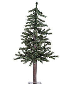 3' Natural Alpine Artificial Christmas Tree with 70 Clear Lights
