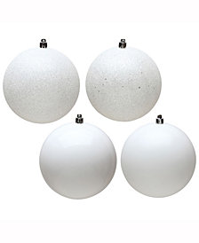 "Vickerman 2.4"" White 4-Finish Ball Christmas Ornament, 24 per Box"