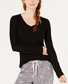 Jenni Ribbed Pajama Top, Created for Macy's